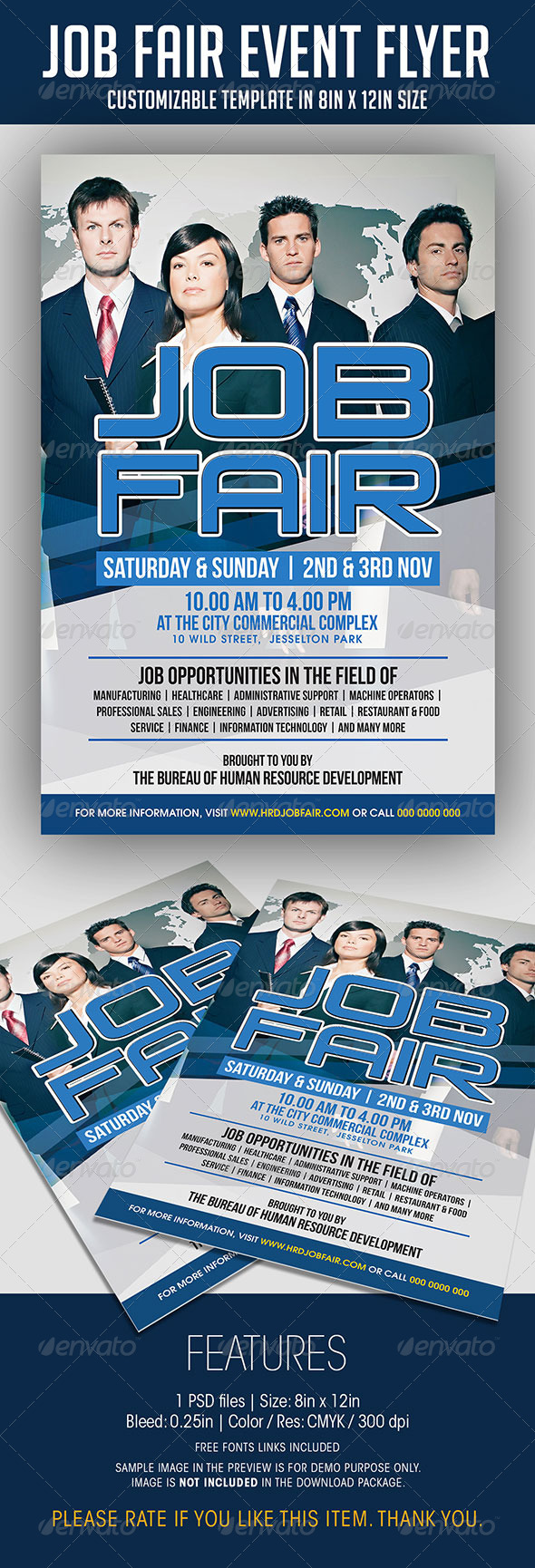 Job Fair Event Flyer - Events Flyers