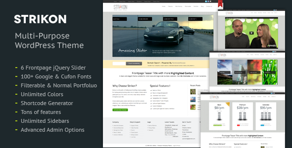 Strikon - Corporate, Hosting & Portfolio WP Theme