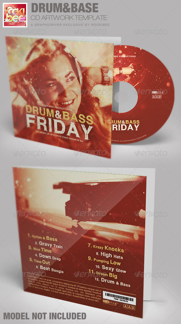 GraphicRiver Drum and Base Friday CD Artwork Template 6842997