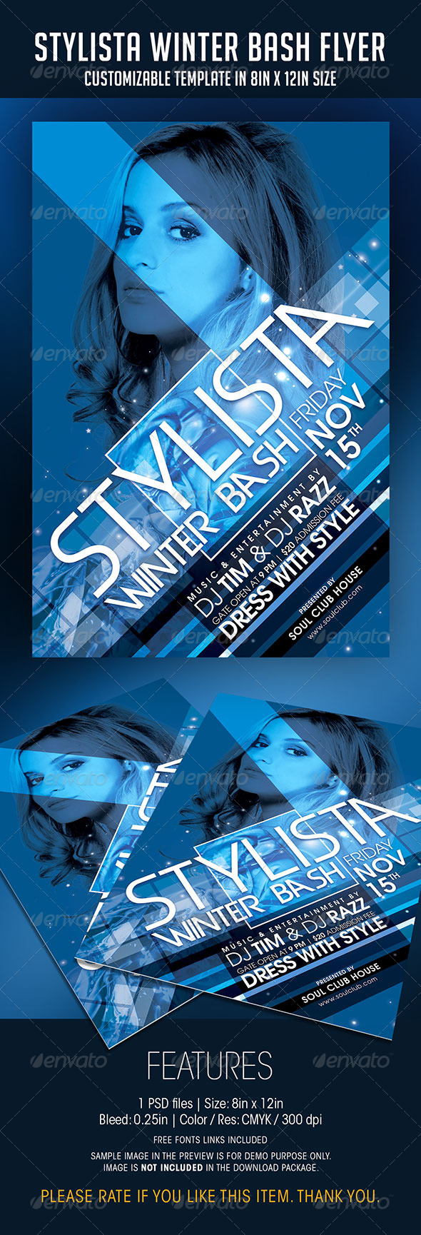 Stylista Winter Bash Party Flyer - Clubs & Parties Events