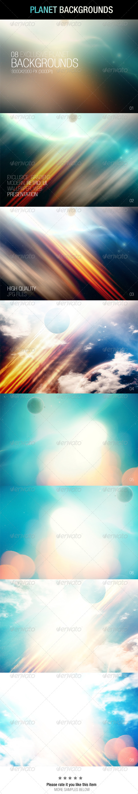 GraphicRiver Planet Backgrounds 6884936