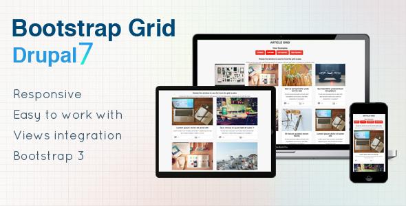 Bootstrap Grid - Drupal 7 Views Grid