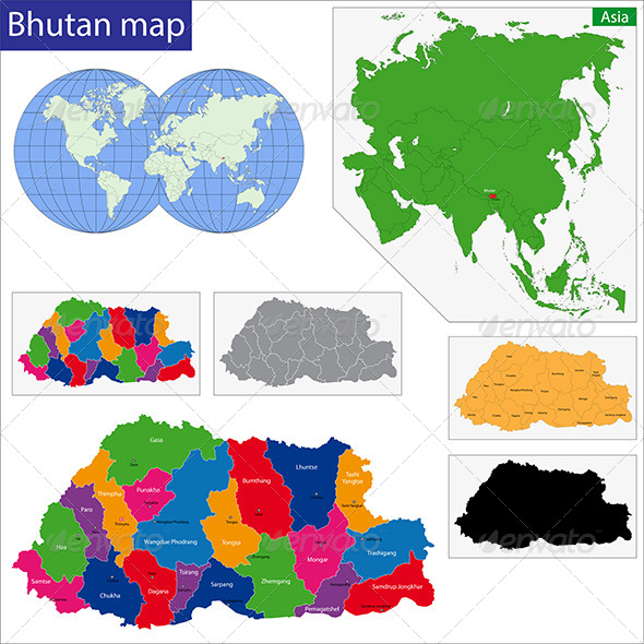 GraphicRiver Bhutan Map 6885137