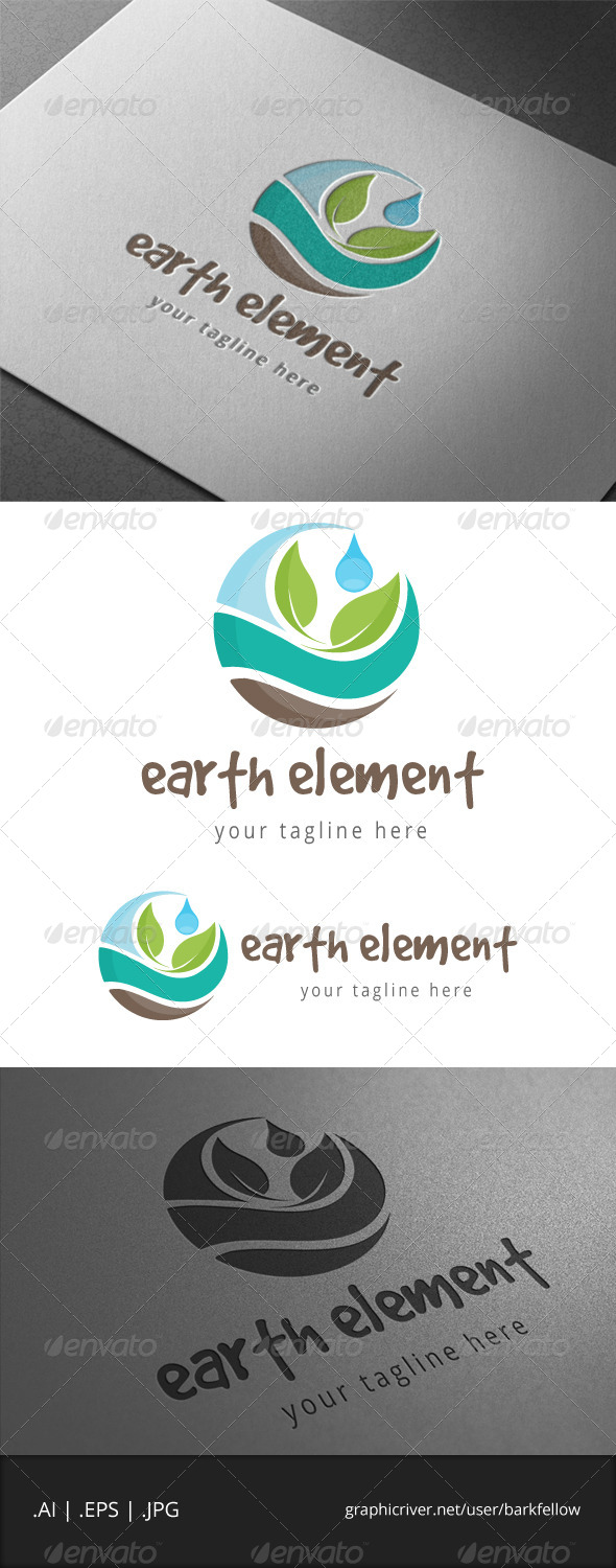 GraphicRiver Earth Nature Element Logo 6885144