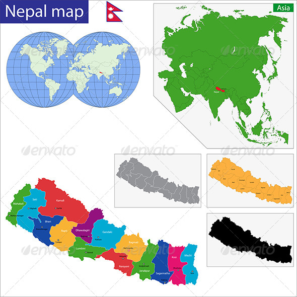 GraphicRiver Nepal Map 6885148