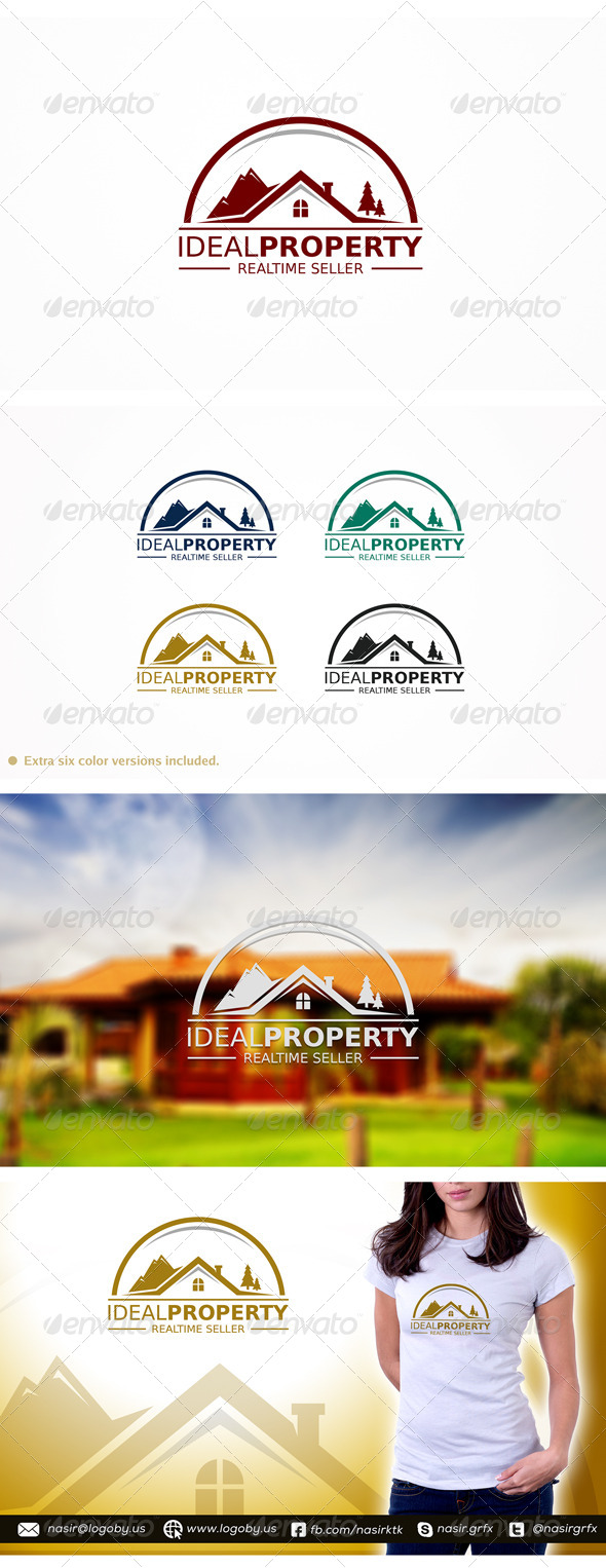 Idael Property  - Buildings Logo Templates