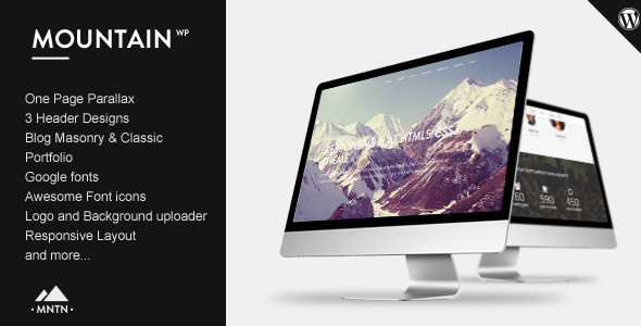 Mountain - One Page Parallax WordPress Theme - Creative WordPress