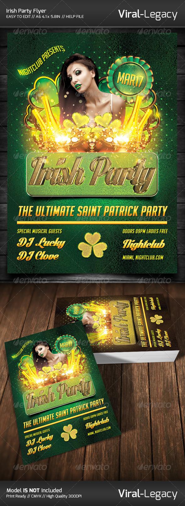 GraphicRiver Saint Patrick Irish Party Flyer 6885377