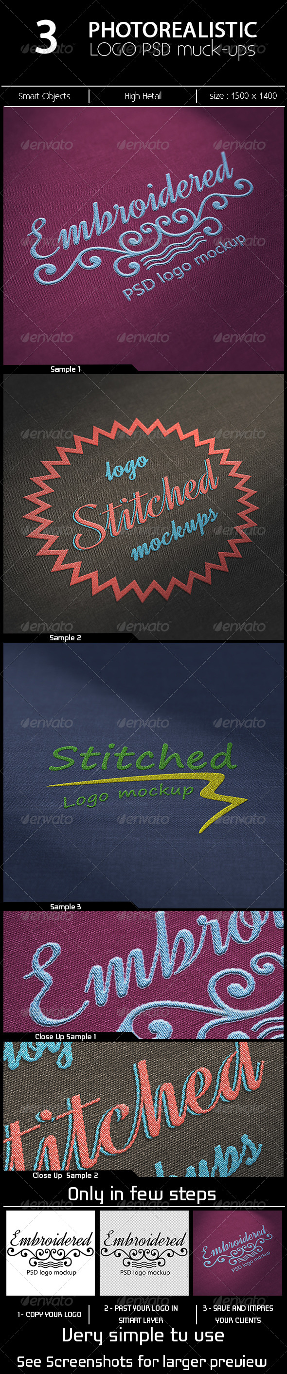 GraphicRiver 3 Photorealistic Logo Mock-ups 6885481