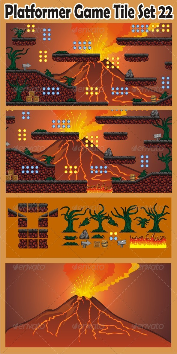 GraphicRiver Platformer Game Tile Set 22 6885480