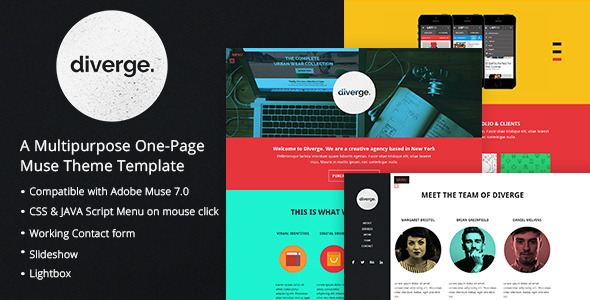 Diverge - One Page Muse Theme