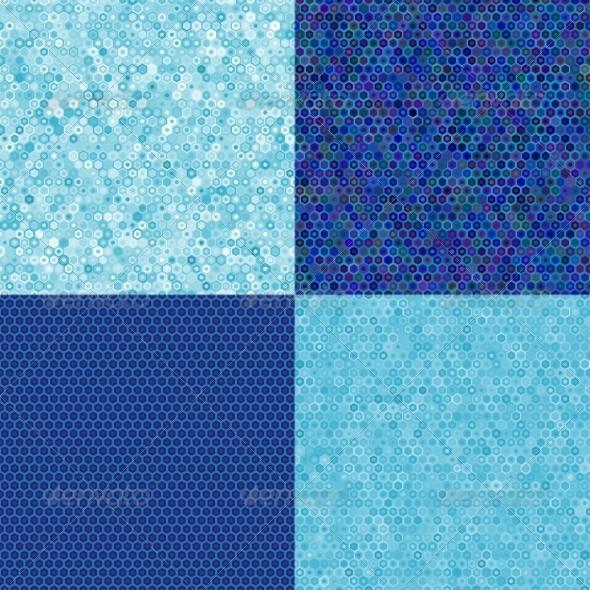 Blue Texture of Hexagons
