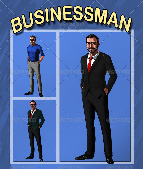 GraphicRiver Business Man 6885535