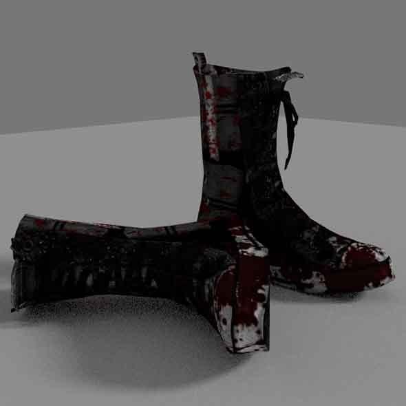 3DOcean Zombie Boots 6885554
