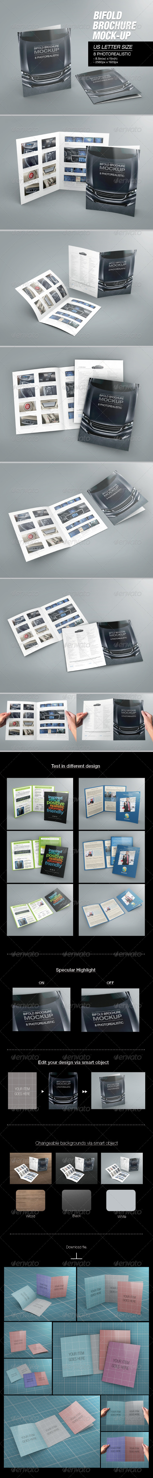 GraphicRiver Bifold Brochure Mock-up 02 6885783