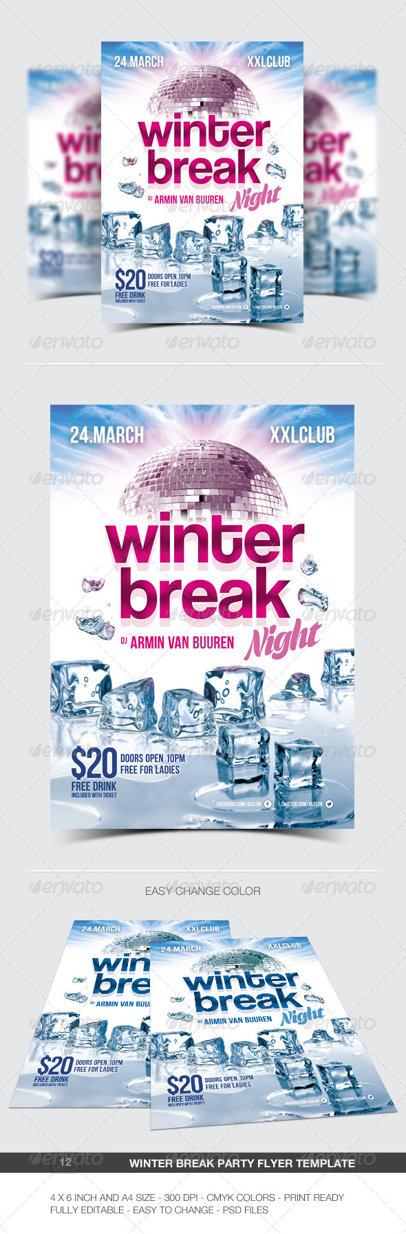 GraphicRiver Winter Break Party Flyer Poster 12 6885830
