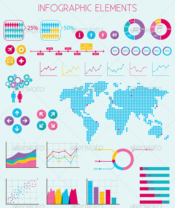 GraphicRiver Infographics Elements Vector 6885937