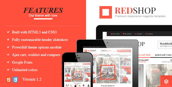 Redshop - Responsive & Retina Ready Magento Theme