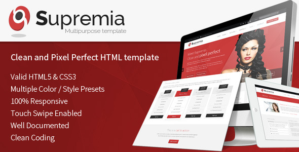 Supremia Responsive HTML5 Multipurpose Template