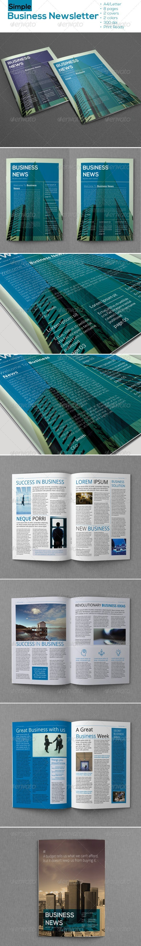 GraphicRiver Simple Business Newsletter 6842488