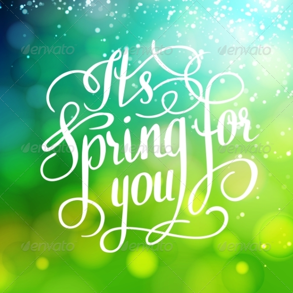 GraphicRiver Spring for You Lettering Text 6886282