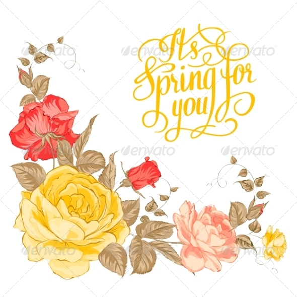 Spring for You Calligraphic Text
