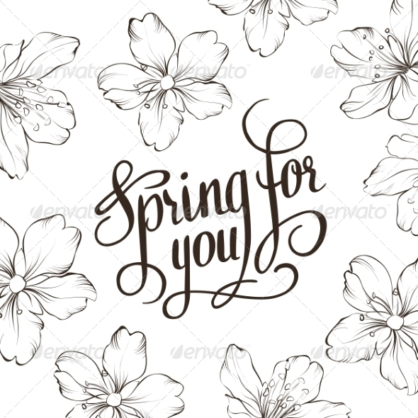 GraphicRiver Spring for You Calligraphic Text 6886296