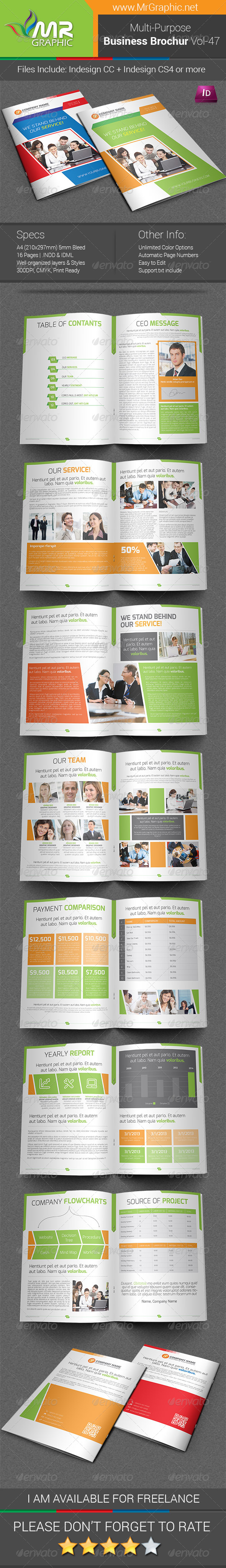 GraphicRiver Multipurpose Business Brochure Template Vol-47 6874790