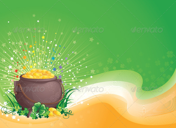 GraphicRiver Pot of Gold for Saint Patrick s Day 6887262