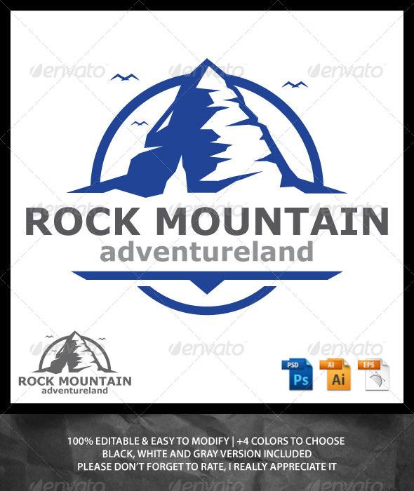 GraphicRiver Rock Mountain Logo 6887298
