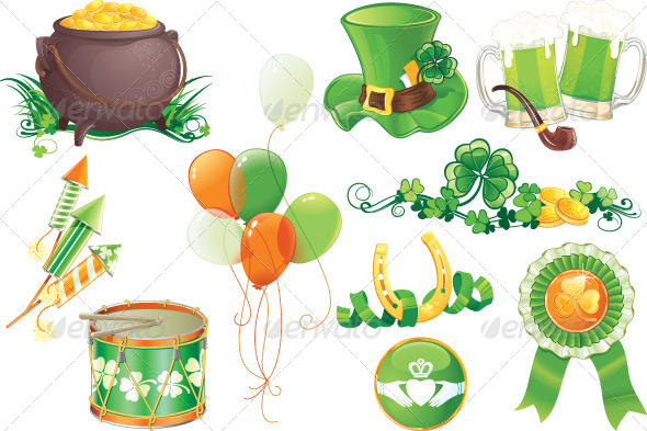 GraphicRiver St.Patrick s Day Symbols 6887300