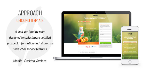 ThemeForest Approach Lead Gen Unbounce Template 6887311