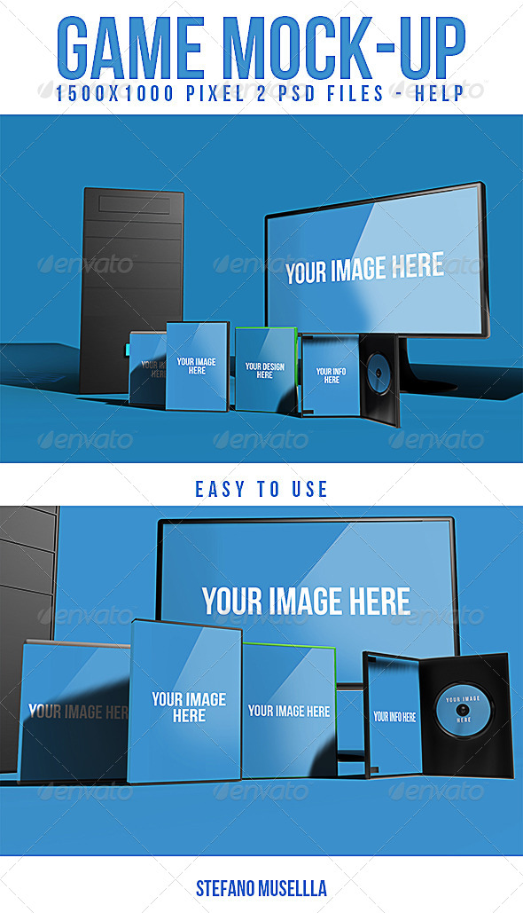 GraphicRiver Pc mock up 6879627
