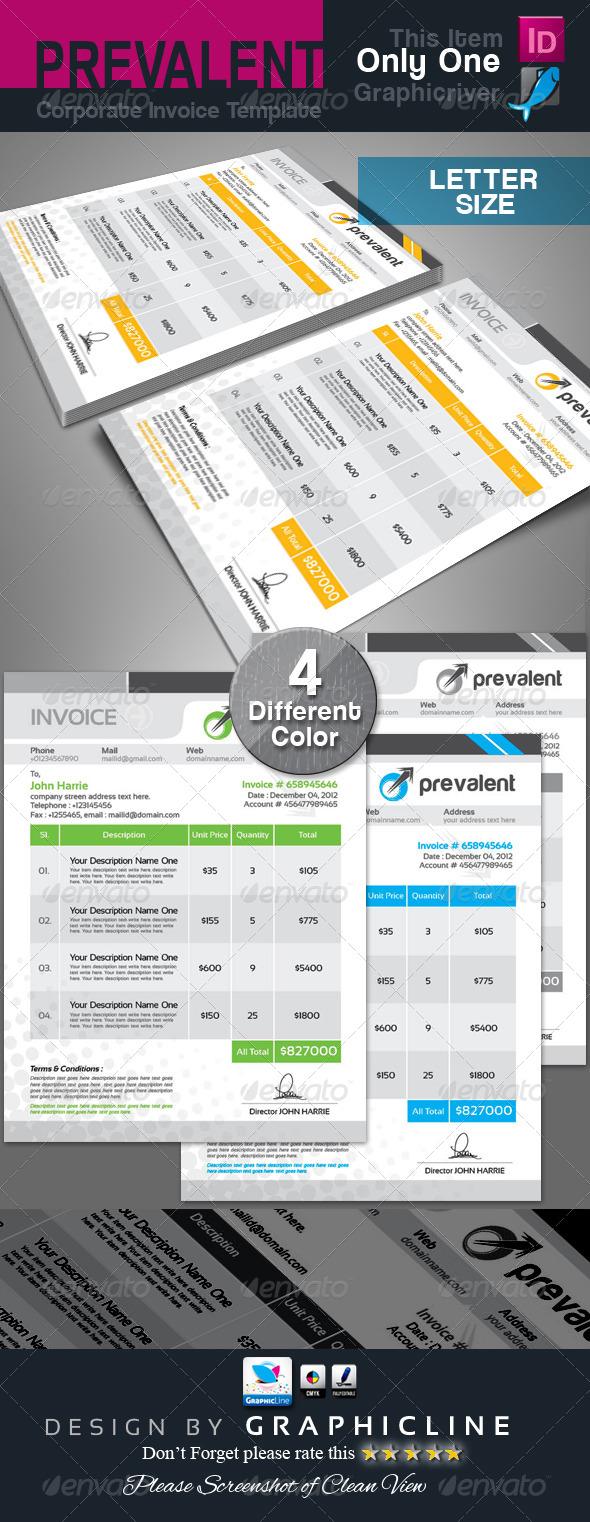 GraphicRiver Prevalent Corporate Invoice Template 6830487