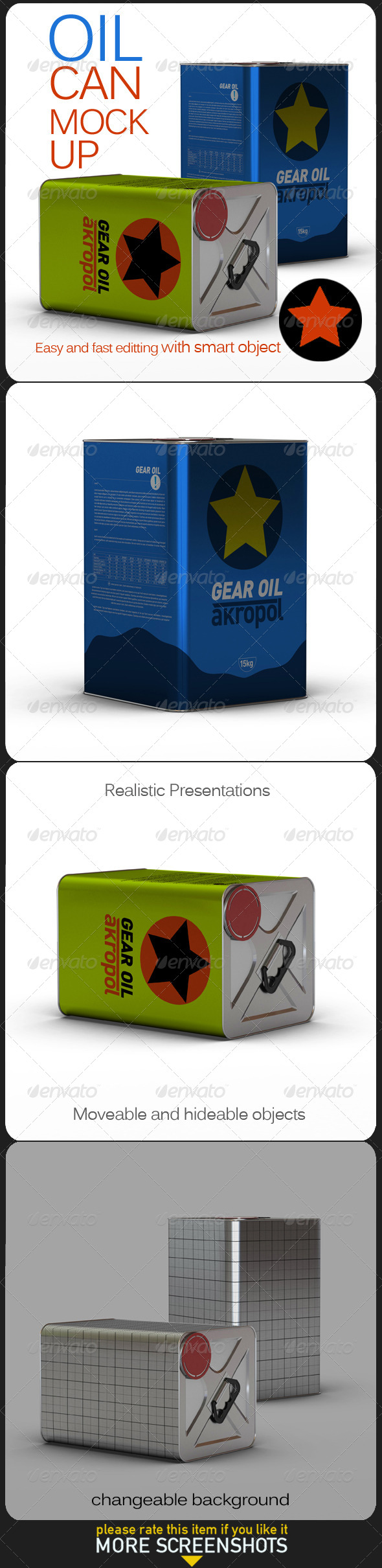 GraphicRiver Oil Can Mock Up 6887489