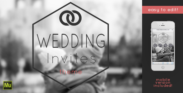 ThemeForest Wedding Invites Muse Template 6861685