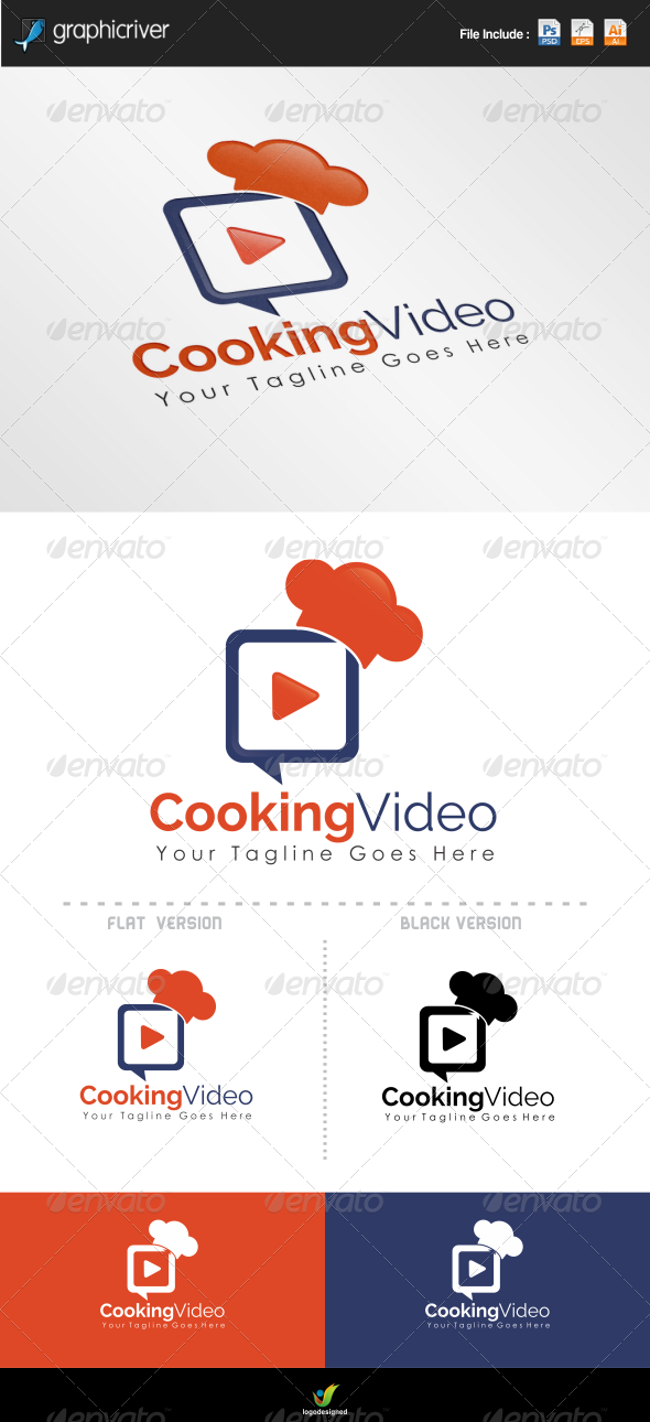 GraphicRiver Cooking Video Logo 6865836