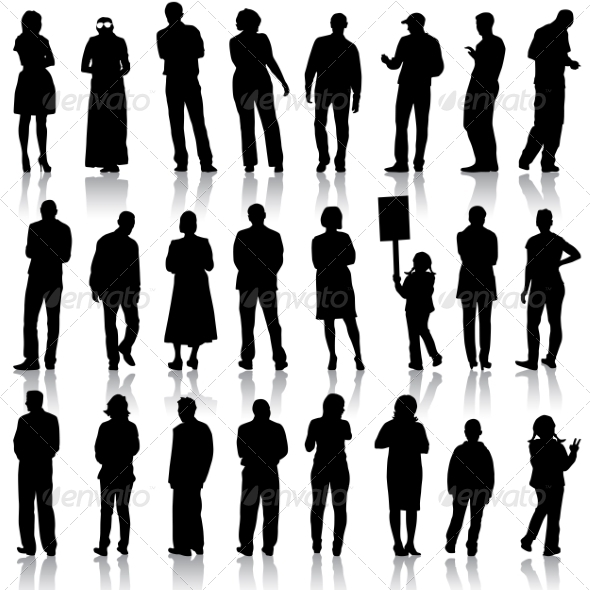 GraphicRiver Silhouettes of People 6887610