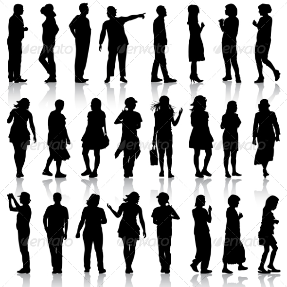 GraphicRiver Silhouettes of People 6887614
