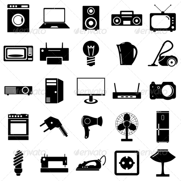 GraphicRiver Collection of Electrical Device Symbols 6887635