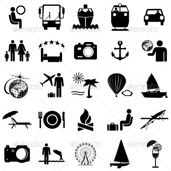 GraphicRiver Collection of Travel Icons 6887638