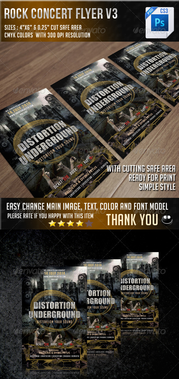 GraphicRiver Rock Concert Flyer V3 6887649