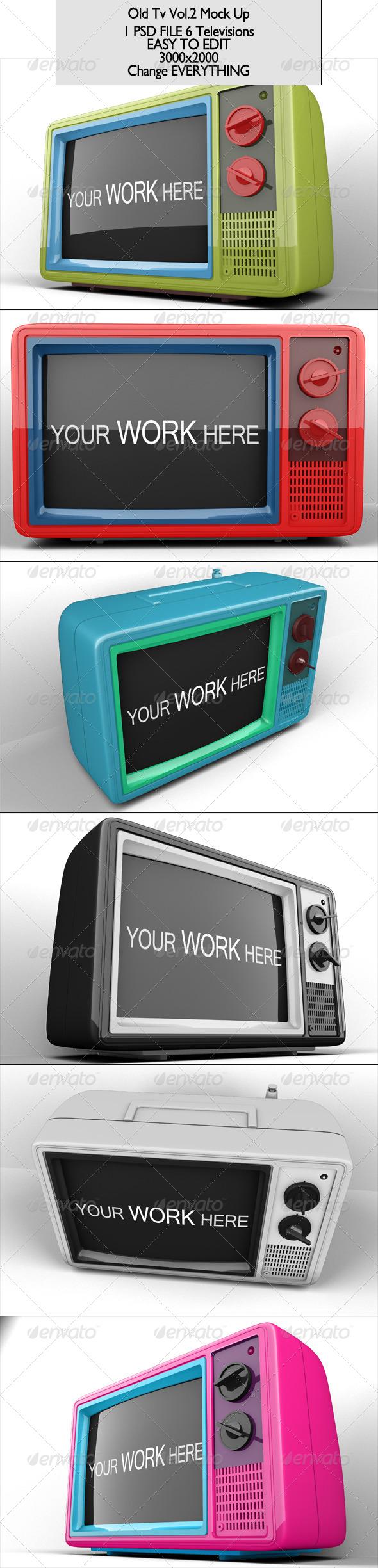 GraphicRiver Old Tv Mock Up Vol 2 6887660