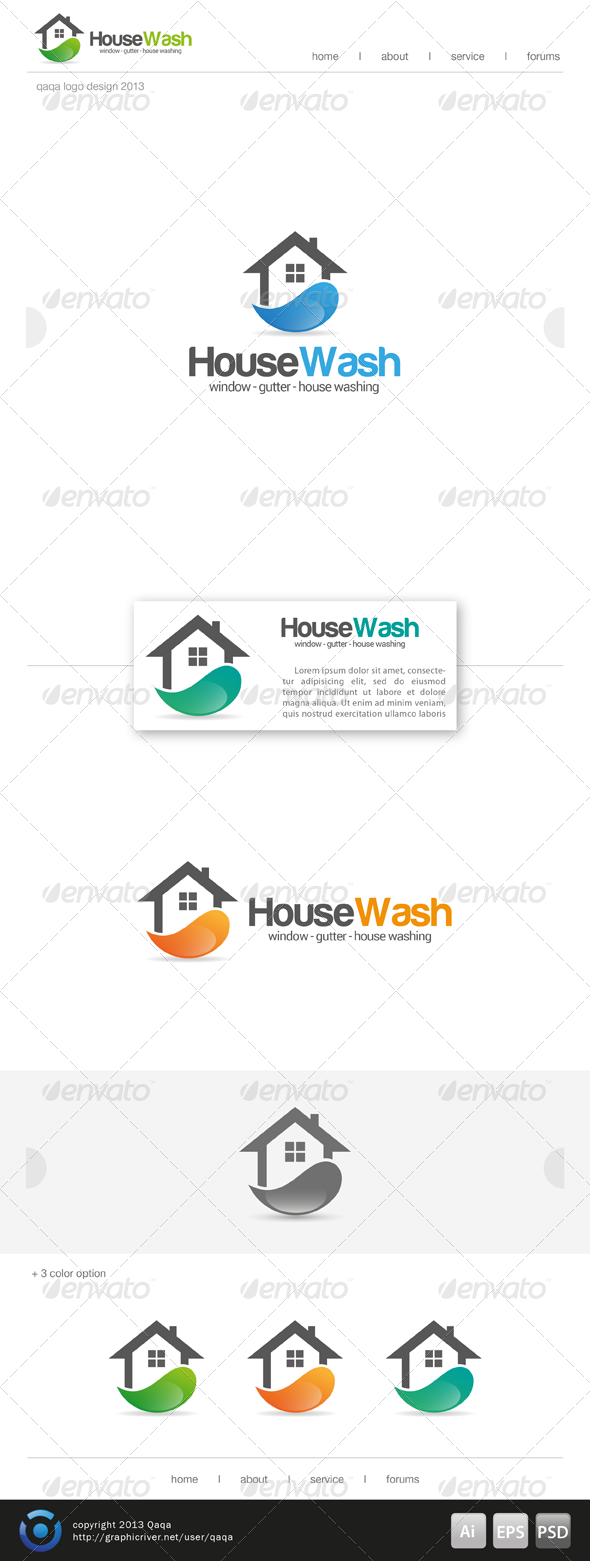GraphicRiver House Cleaning Logo 6864746