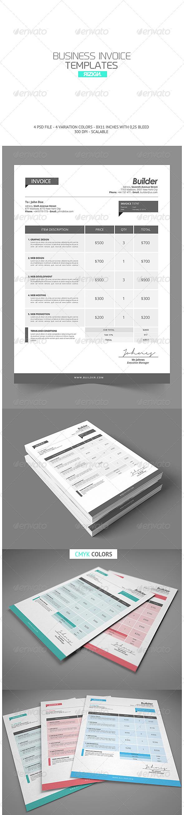 GraphicRiver Business Invoice 6887665