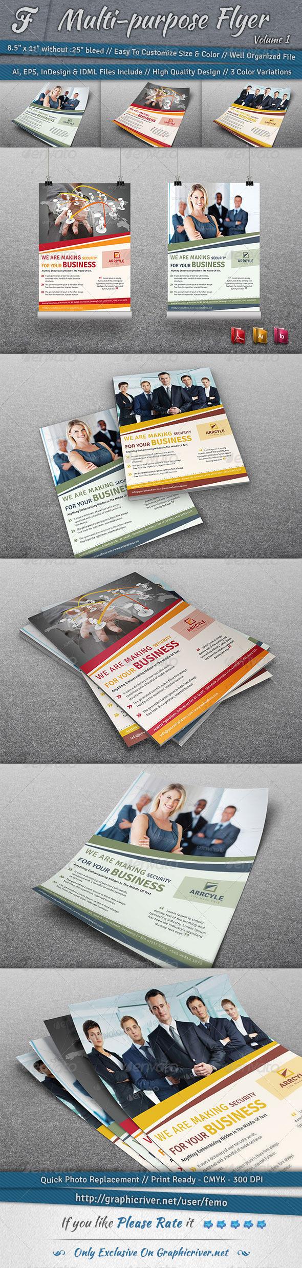 GraphicRiver Multi-purpose Flyer Volume 1 6887715