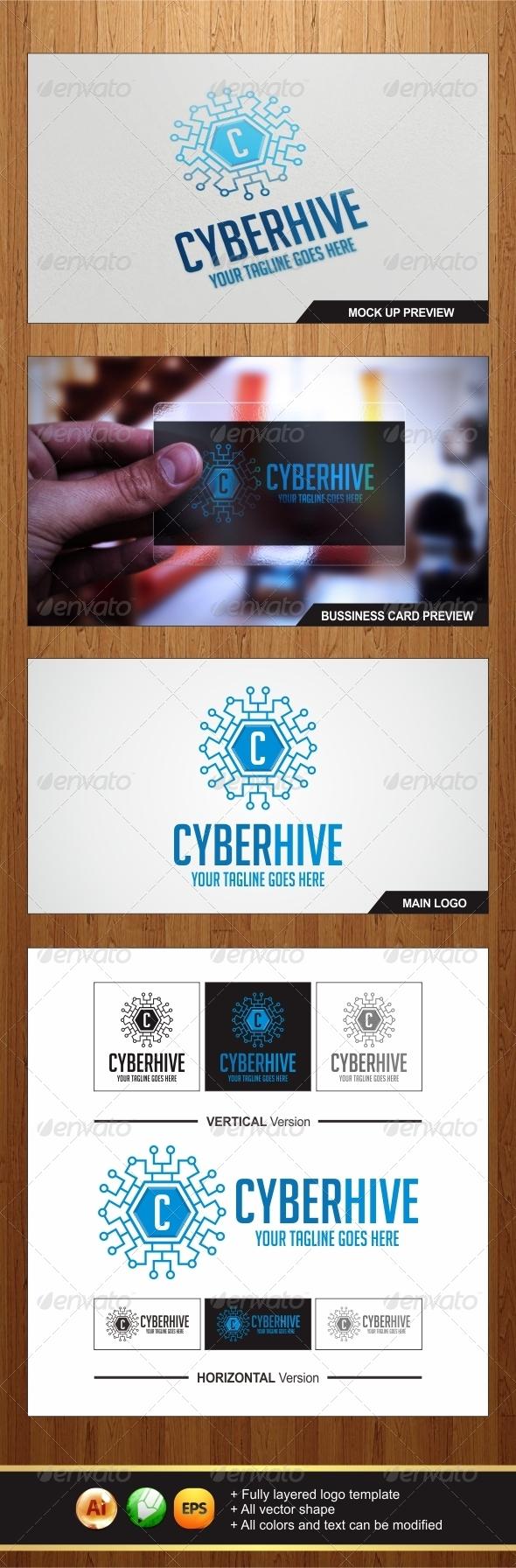 GraphicRiver Cyber Hive Logo 6887860
