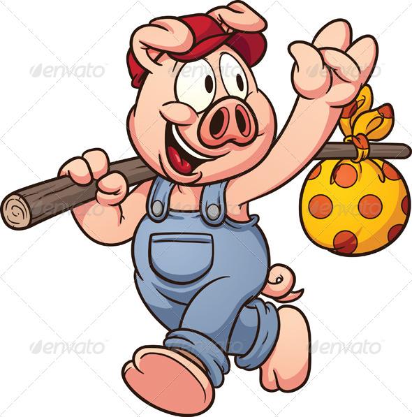 GraphicRiver Cartoon Pig 6887885