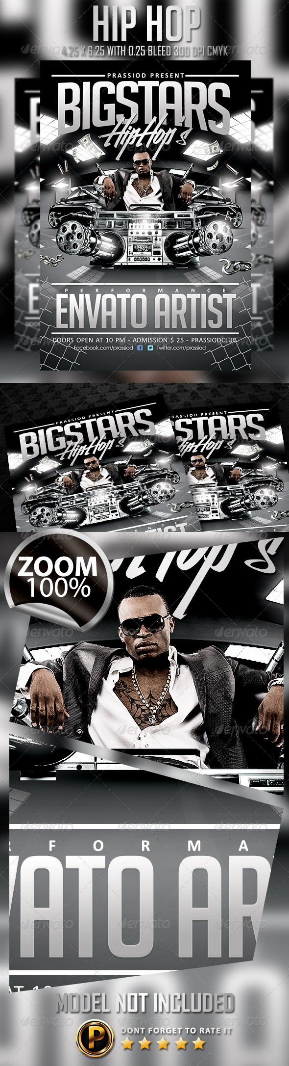 GraphicRiver Hip Hop Flyer Template 6888183