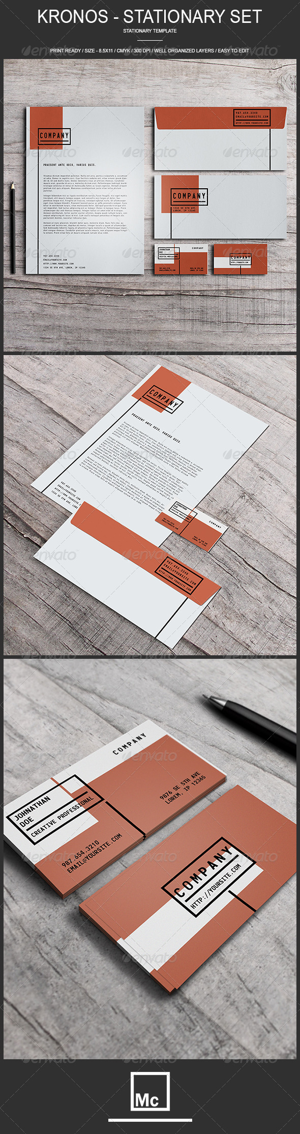 GraphicRiver Kronos Stationary Set 6888210